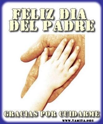 Feliz dia del padre gracias por cuidarme