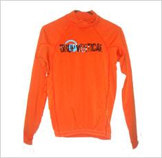 Camisa para surf Drop Vertical laranja