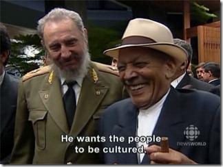 """Фидель Кастро и Компай Сегундо (кадр из фильма """"Фидель: нерасказанная история"""")."""