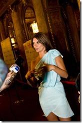 Пенелопа Крус на кинофестивале в Торонто 2009-го года. Возможно, это мои рука и папка высовываются из-за кадра справа. :-)