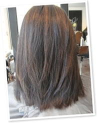 View Long layers on shorter hair