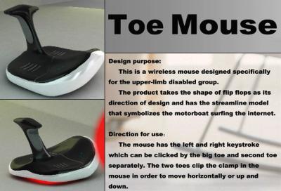 Toe mouse