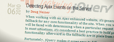 Detecting Ajax Events on the Server