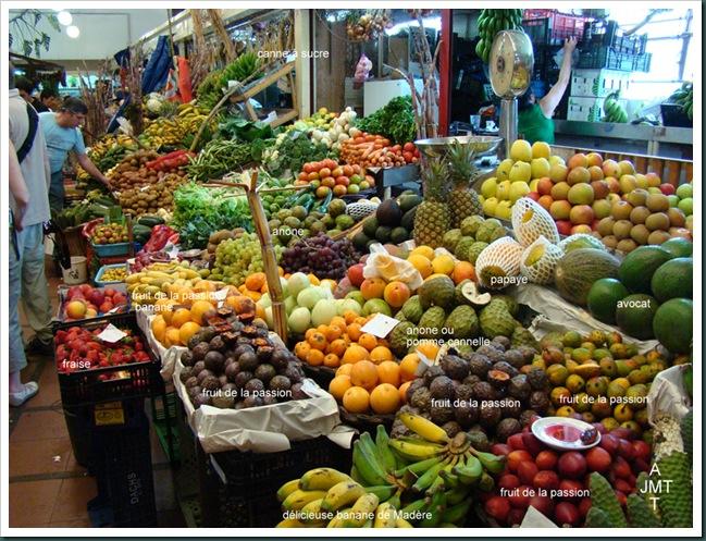 DSC03317-BIS-Funchal-marché aux fruits et légumes BW