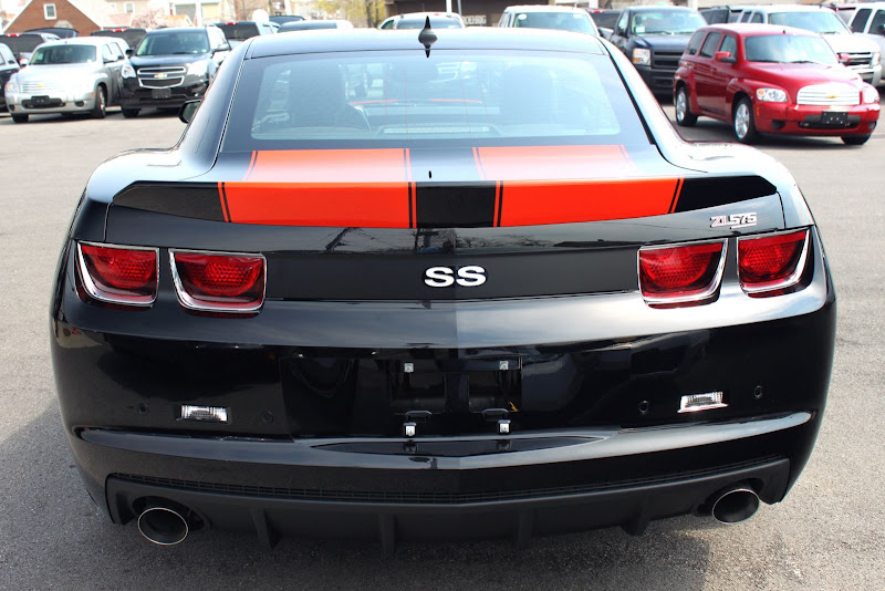 2010 Camaro Slp Zl575 Black W Orange Double Stripes