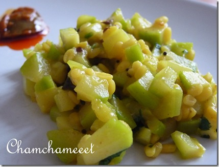 Courgettes Moong Dal 005