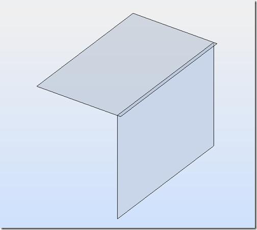 5 модель в роботе (свес в половину толщины стены)