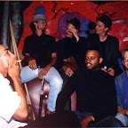 Smoking Section ~1990, front L-R: Anthony Hawkins, Robert BOB Smith, Dave Hawkins; rear L-R, Scott Jensen, Kenny Brooks, Damon Wood.