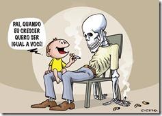 charge crianca cigarro fumante homem morte mau exemplo dor sofrimento fadiga falta de ar - witian blog
