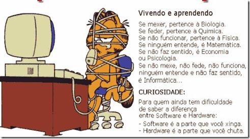 Vivendo e Aprendendo - dica de informatica do Garfield