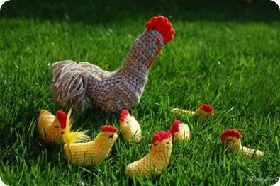 Hæklet hønsegård