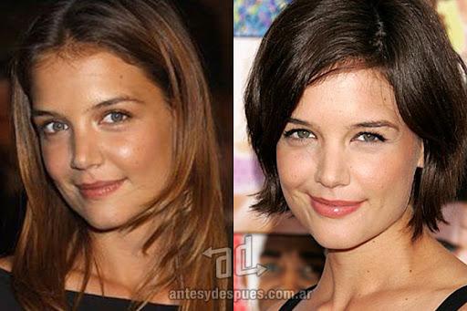 Antes y despues de Katie Holmes - Corte de pelo, nuevo look