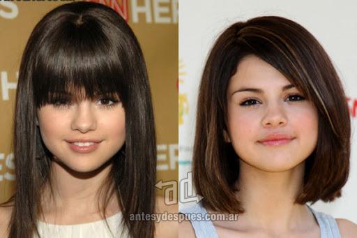 Antes y despues de Selena Gomez - Corte de pelo, nuevo look