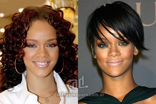Antes y despues de Rihanna - Corte de pelo, nuevo look