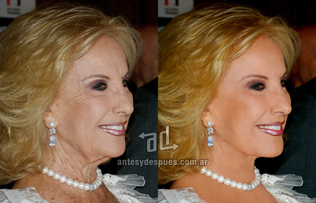 Mirtha Legrand without Photoshop