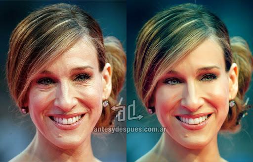 Sarah Jessica Parker sin Photoshop