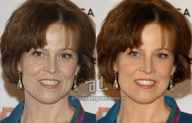 Sigourney Weaver without Photoshop