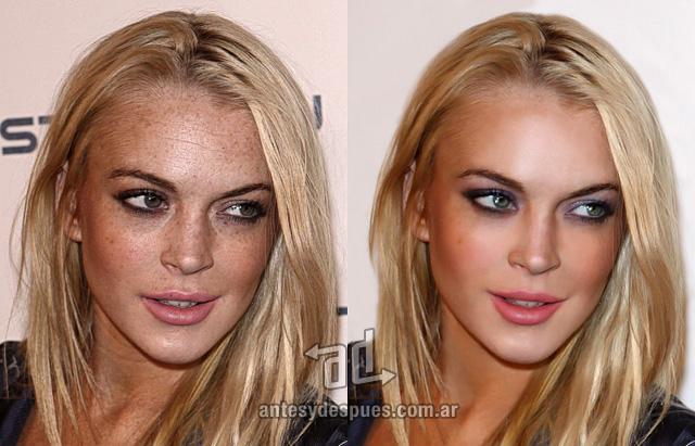Lindsay Lohan sin Photoshop