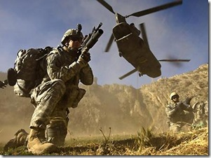 Canadian army's invasion of enemy-occupied Afghanistan