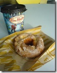 Ken Symes' favourite: Tim Hortons Double Double and Sour Cream Glazed Donut