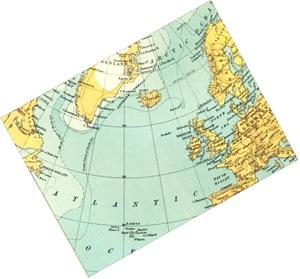 Atlantic-map-Newfoundland-Britain