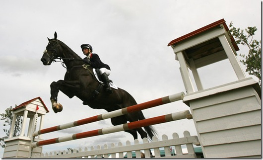 Zara Phillips of Great Britain rides Glenbuck during the Showjumping event on the final day of the Land Rover Burghley Horse Trials on September 6, 2009 in Stamford, United Kingdom