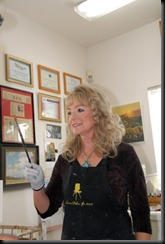 Victoria Brooks demonstrated oil painting.