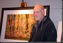 Larry Brenden in his photography studio.