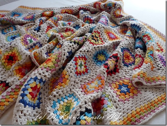 Granny Square Blanket Finish (6)