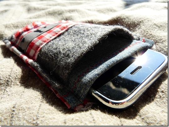iPhone Tasche mit Kopfhörerfach