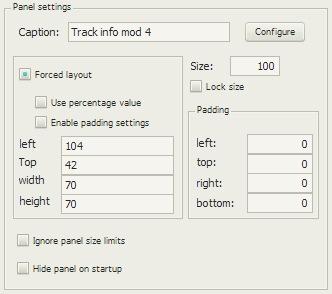 Track info mod 4の配置