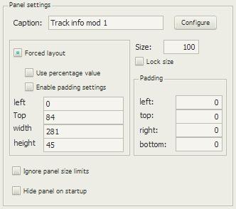 Track info mod 1の配置