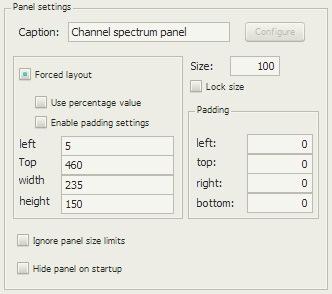 Channel spectrum panelの配置