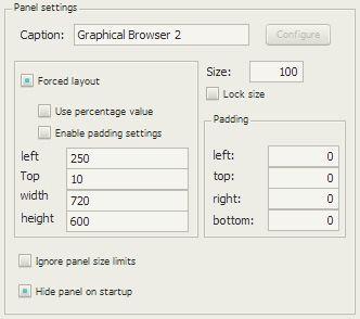 Graphical Browser 2の配置