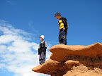 Michael and Bradley at Goblin Valley