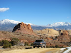 Truck on the Burr Trail