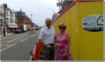CllrHart with new walkway
