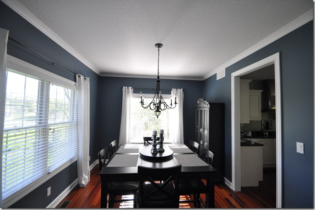 Sherwin Williams Smoky Blue Dining Room