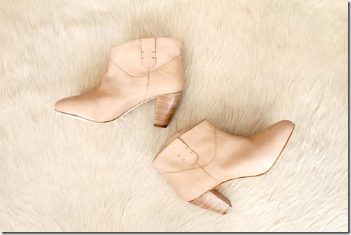 Rebecca Minkoff Launches Shoes Spring 2011 Stacked Wood Heel Bootie