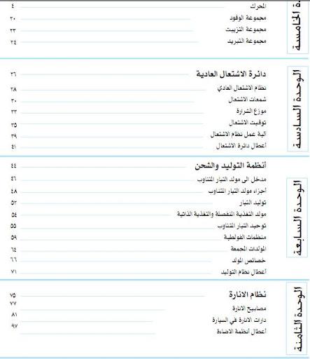 كتب عربى خلاصه لاساسيات كهرباء وميكانيكا السيارات اقراها ومتخليش حد يشتغلك بعد كده  1
