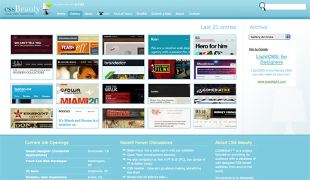 CSS Design Showcase Websites 02