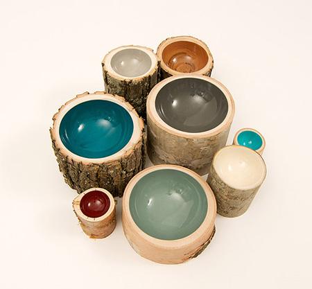 Eco-Friendly Log Bowls by Doha Chebib 5