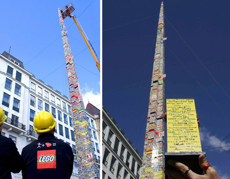 Tallest LEGO Tower in Vienna