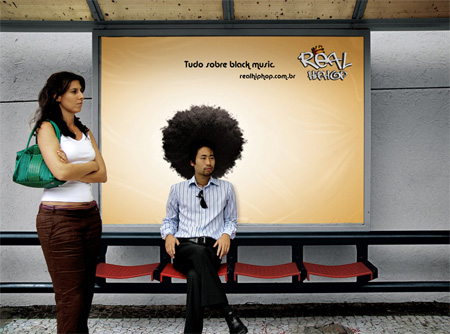 Real Hip Hop Bus Stop Advertisement