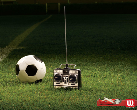 Wilson Soccer Remote Advertisement