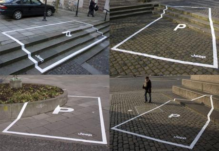 Jeep Parking Space Ads