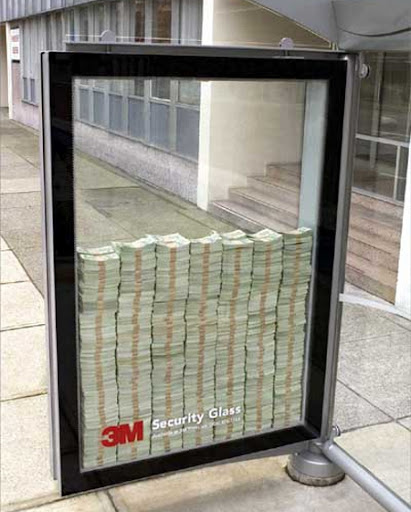 3M Security Glass Advertisement