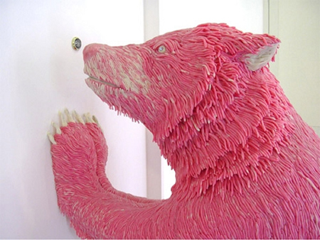 Pink Chewing Gum Sculptures