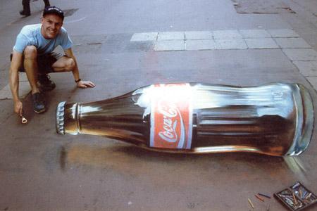 3D Sidewalk Chalk Art 4