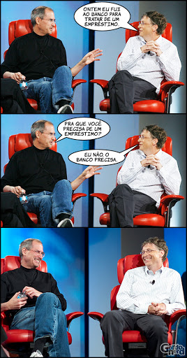 stevejobs billgates 3 Steve Jobs vs. Bill Gates
